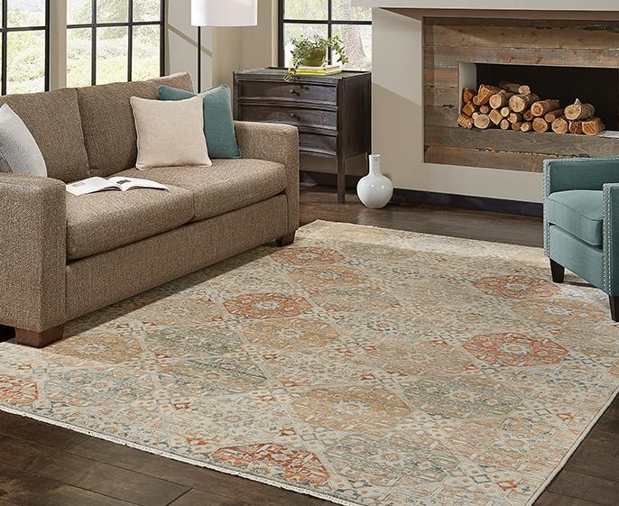 Casual area rugs